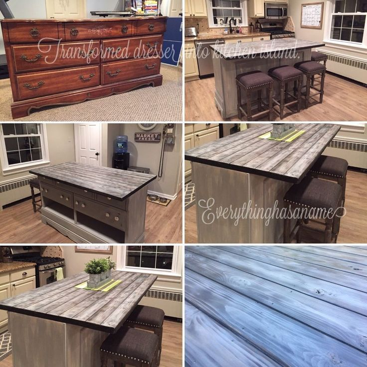 Koa Wood Kitchen Cabinets: Image Result For Repurposed Buffet Kitchen Island