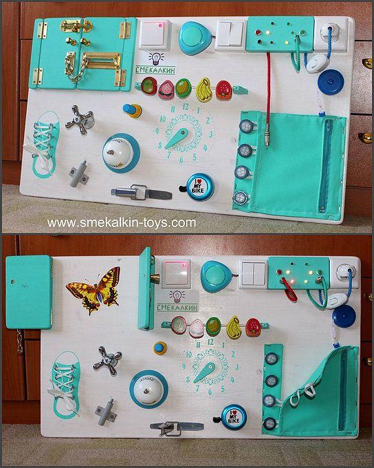 бизиборд смекалкин, развивающая доска, бизиборд для мальчика, доска с замочками и лампочками, красивый бизиборд, лучшие бизиборды