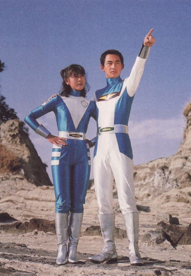 Dai Sawamura and Annie from Space Sheriff Shaider, 1984
