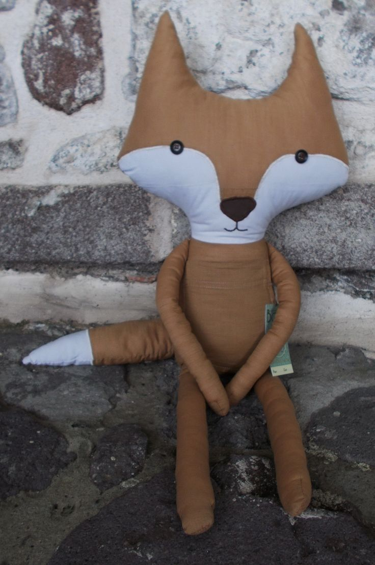 Fox Teddy Made from an old shirt as a project for Menta our local florist and event-planner in the theme of The little Prince