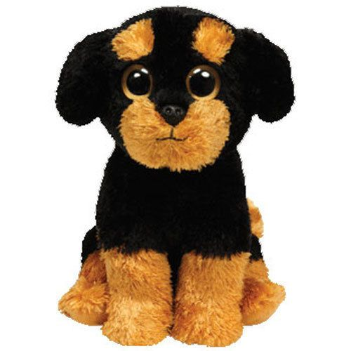 ty beanie baby babies brutus the rottweiler dog tag plush stuffed toy july 9