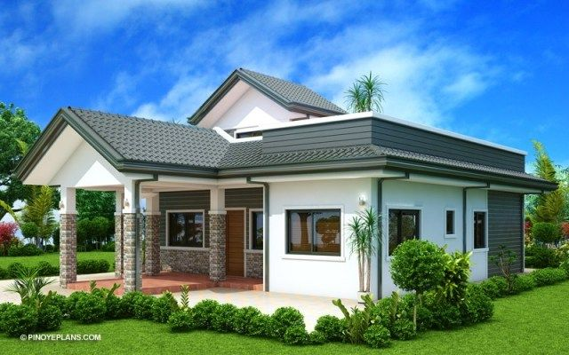 House Design Plans 14x19m With 3 Bedrooms Home Ideassearch One Storey House Modern Bungalow House Design Modern Bungalow House