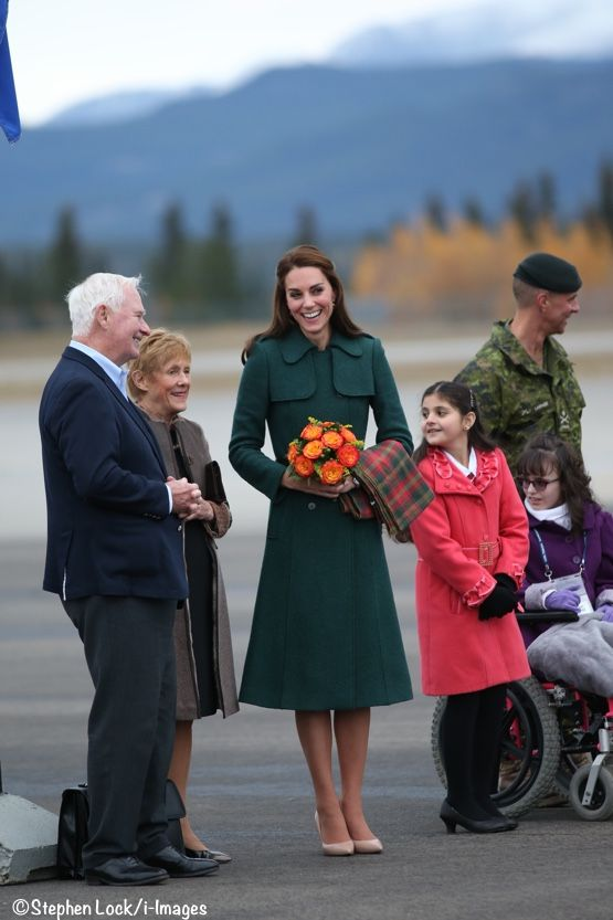 Kate is greeted at Whitehorse airport Sept 27, 2016 on day 4 of the second royal tour of Canada's west coast and northern regions.