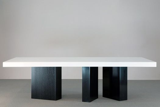 Random leg for creating additions to table length Could be legs to match floor with contrasting top