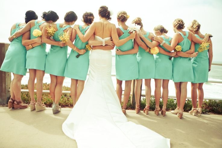Teal and yellow wedding...love the colors!!: Wedding Ideas, Bridesmaid Dresses, Weddings, Picture Idea, Bridesmaids Dresses, Dream Wedding, Photo Idea, Future Wedding