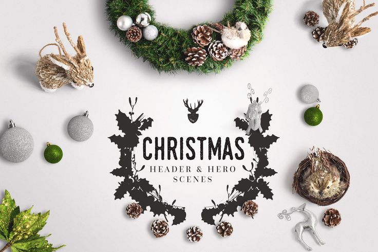 Christmas Header And Hero Scene Mockup 04 by Original Mockups on @originalmockups