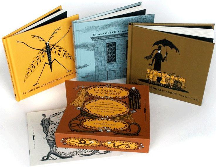 «La fábrica de vinagre» es un estuche de @Libros del Zorro Rojo con tres de las obras «morales» de Edward Gorey: «Los pequeños macabros», «El Dios de los insectos» y «El ala oeste»: «Mi viaje favorito es mirar por la ventana» (Gorey) http://www.culturaimpopular.com/etiquetas/edward-gorey Libros del Zorro Rojo http://www.veniracuento.com/