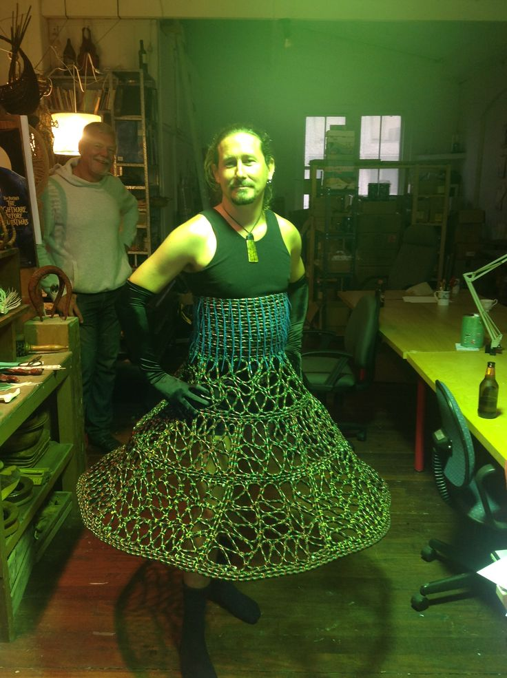 Rope hoop skirt, commissioned by Greg McGuirk for the 2013 gay and lesbian Mardi Gras parade.