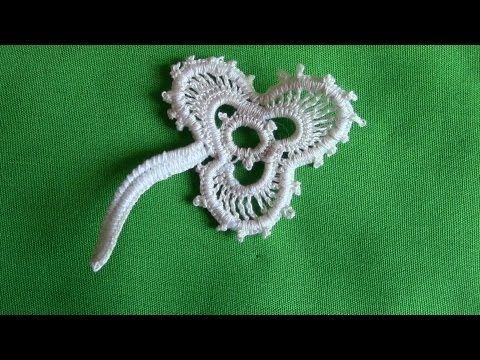 À Shamrock in Irish Crochet Lace