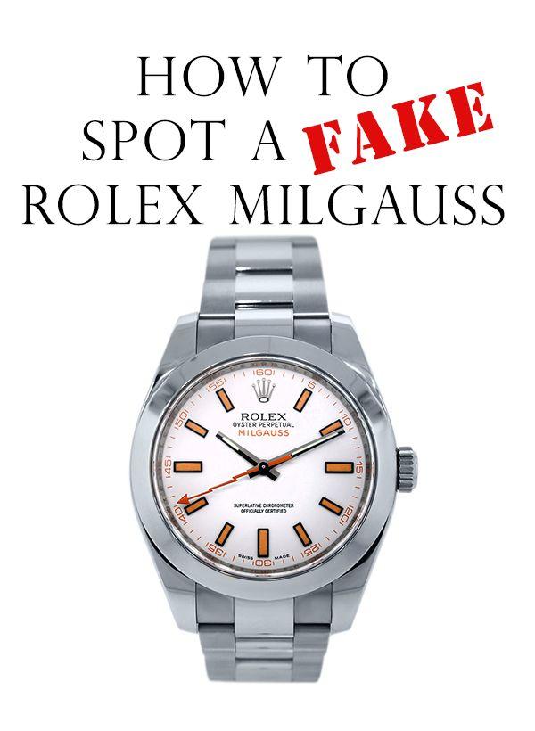 How to Spot a Fake Rolex Milgauss