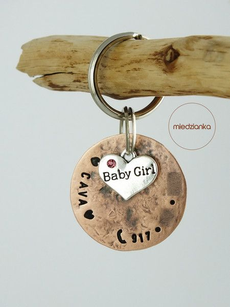 Ø32 mm Baby Girl ID copper - Miedzianka - For Animal lovers
