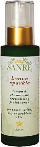 SanRe Organic Skinfood  Lemon Sparkle  Organic Lemon and Chamomile Revitalizing Facial Toner For OilyCombination to Acne Prone Skin *** This is an Amazon Affiliate link. Want to know more, click on the image.