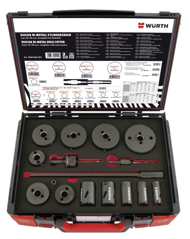 Assortimento Campane Di Seghe 16 Pezzi Zebra Hssco8 Wurth Music Instruments Mixer Audio Mixer