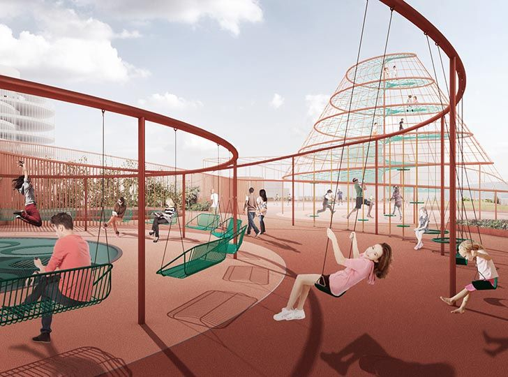 JAJA Architects Reinvent the Parking Garage as a Green Community Space with Park 'n' Play | Inhabitat - Sustainable Design Innovation, Eco Architecture, Green Building