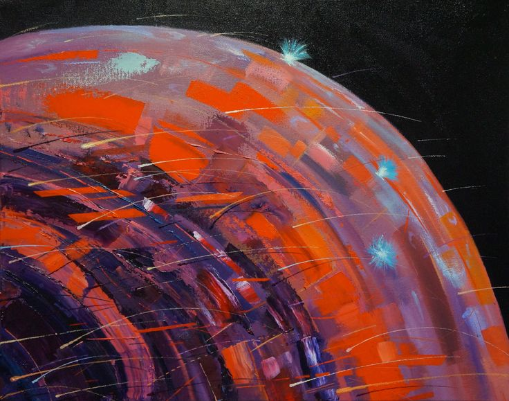 'Ornamented Planet', oil on canvas, 40 x 50cm.  www.jeremyelkington.weebly.com