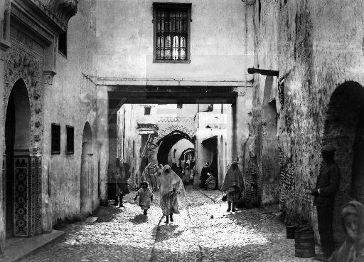 """CIUDADES :TETUAN"""": Tetuán (Protectorado español),1927.Casas típicas cargadas de historia en la ciudad de Tetuan. EFE/DÍAZ CASARIEGO/esl"""