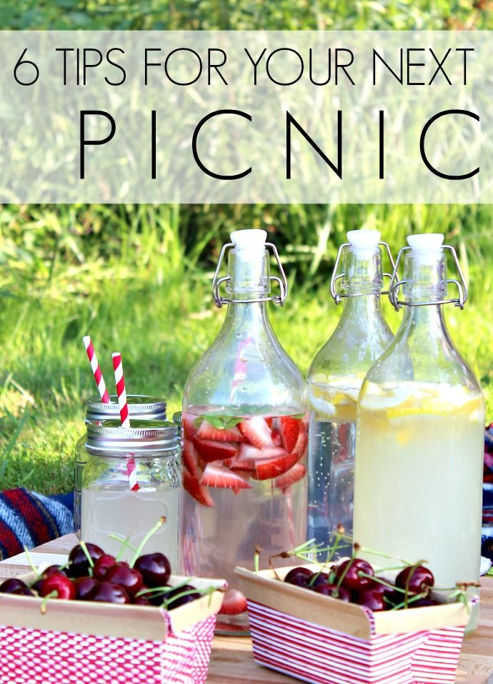 Check out these tips to help prep you for your next picnic, like packing your cutting board & using lidded jars for drinks