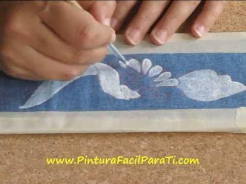 Pintar Manteles 1 Pintura Facil Para Ti Wmv Youtube Pinturas Simples Pinturas Fáciles Y Pinturas