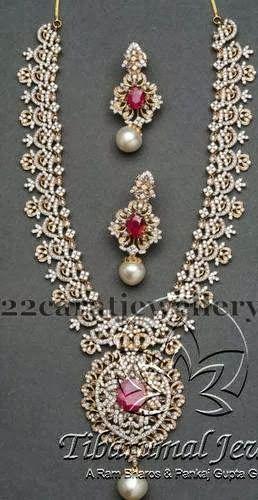 Huge Diamond Set by Tibarumal Jewels   Jewellery Designs