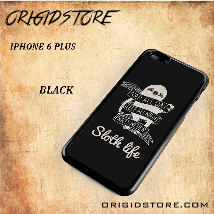 Sloth Life Black White Snap On Or 3D For Iphone 6 Plus