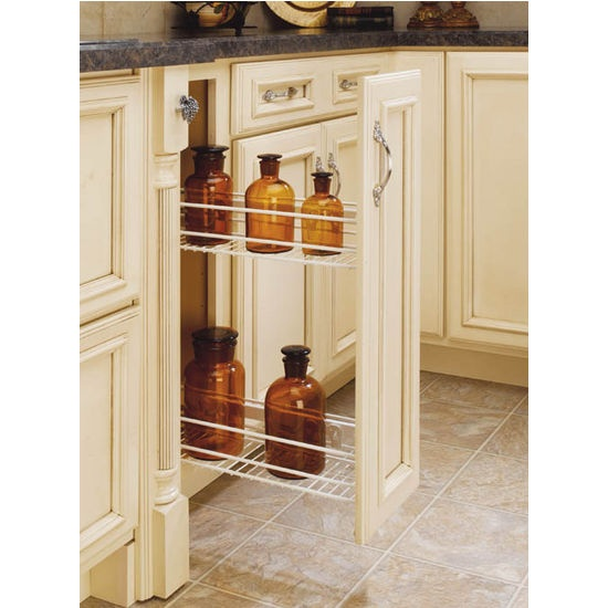 A Shelf 58 15c 5 Chrome Pull Out Basket: Side Mount Kitchen Base Cabinet Pull-Out Organizers By Rev