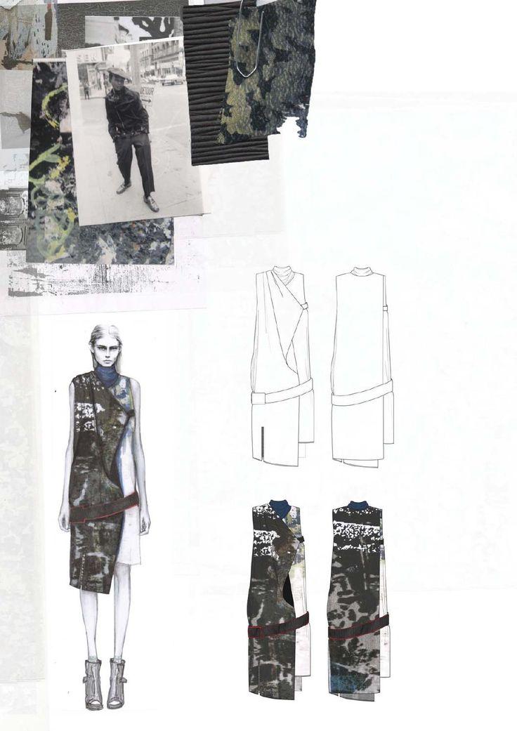 Fashion Design Sketchbook - fashion drawings, inspirations & fabrics; graduate fashion portfolio // Amy Dee
