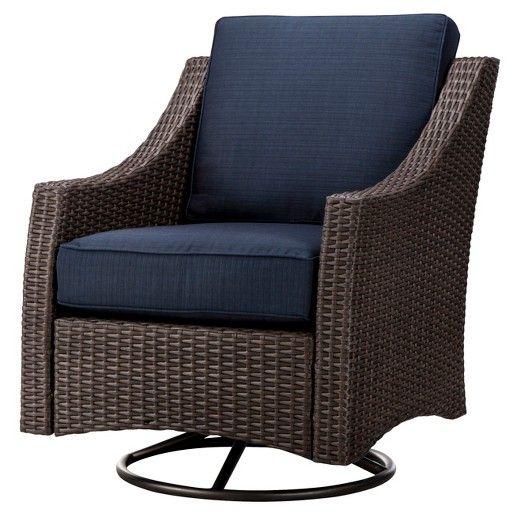Belvedere Wicker Patio Swivel Club Chair - Threshold™ : Target