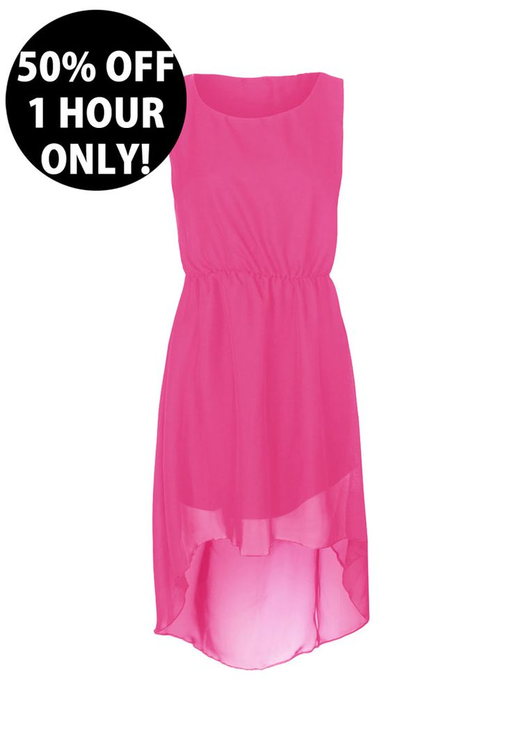 RUN for this one!! 50% OFF for 1 HOUR ONLY   http://www.prodigyred.com/p3589/viana-dip-hem-chiffon-mixi-dress/product_info.html?attr_id=9
