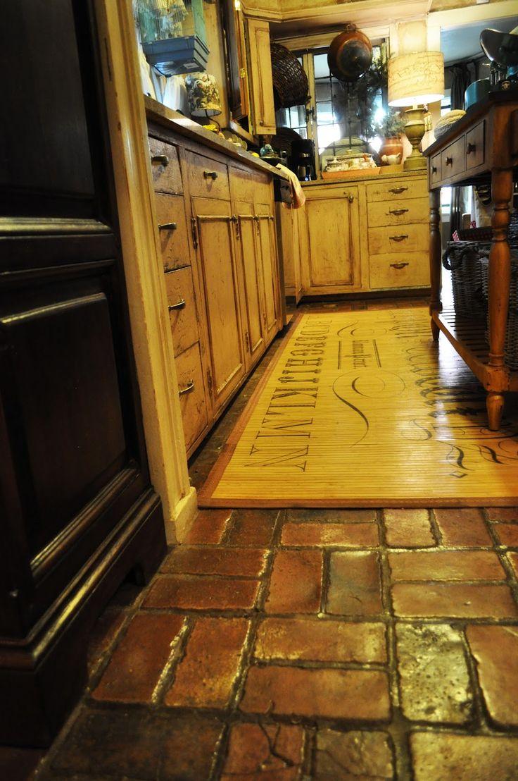 Brick floor bathroom - Brick Floor Plan For Kitchen Bathrooms And Foyer Gallery And Laundry