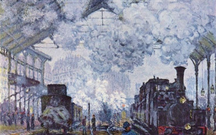 The Brush Strokes of The Industrial Revolution by #Monet #impressionism #painting #impressionist