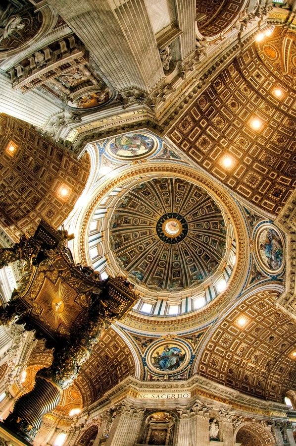 Ceiling St Peters Basilica, Rome, Italy                                                                                                                                                                                 More