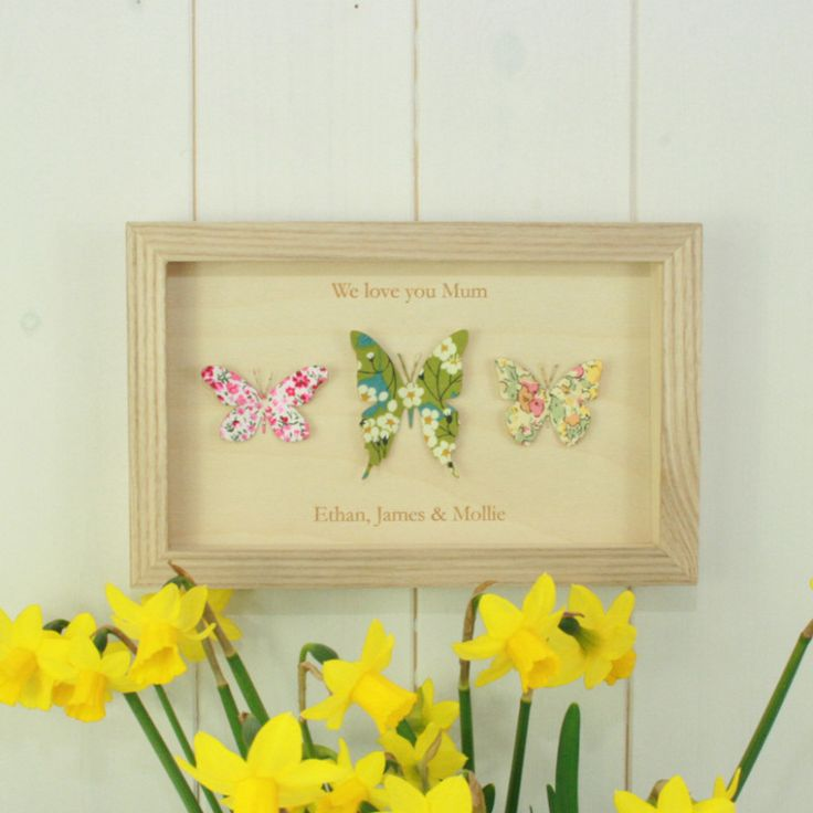 Personalised Liberty print butterflies for Mum | hardtofind.