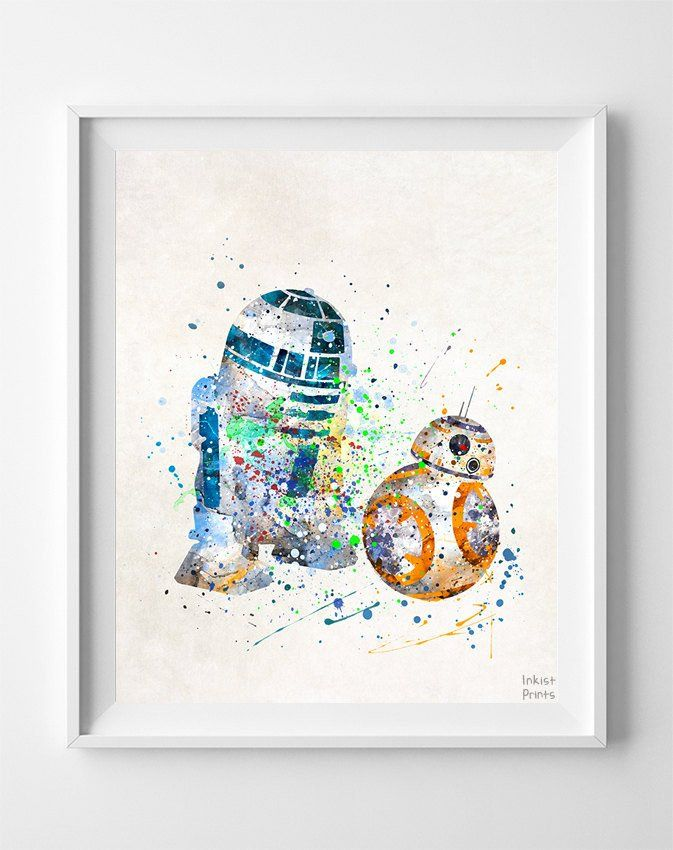 BB8 and R2D2, Star Wars Print