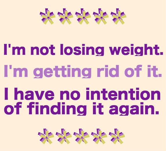 I'm not losing weight....