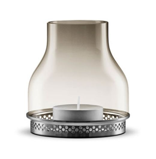 Eva Solo Smoky Grey Glass Hurricane Lamp