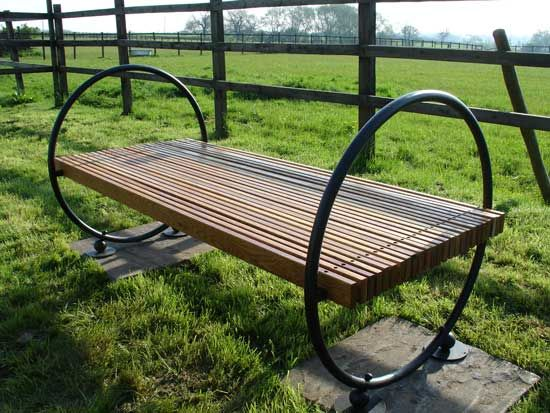Well rounded garden bench by Adrian Wood