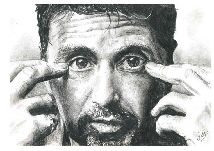 Al pacino - pencil drawing - AstridtenBosch - 2014