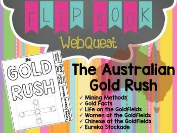 One of the most significant events in Australian history is that of the gold rushes. When gold was discovered it generated gold fever where people from far and wide made their way to the gold fields to try their luck and strike it rich.This Gold Rush WebQuest will assist your students to gain a greater general understanding of this important event in Australian history.