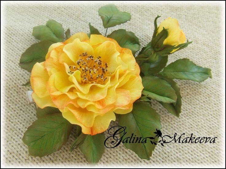 Роза Шайни из фоамирана