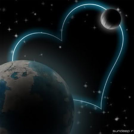 Image detail for -Love you to the moon and back: Image Details, Heart Travel, Blue Lights, Moon Earth, Lights Heart, Heart Moon, My Heart, Around The World, The Moon