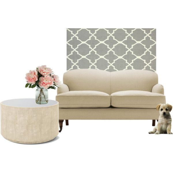 """""""cream sofa"""" by couchfurniture on Polyvore"""
