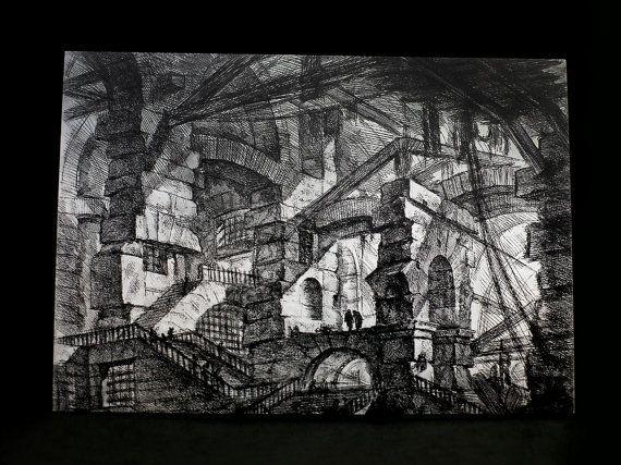 "Postcard Print - ""Grotesque Antiquities"" by #HoneysDead on #Etsy #giovannibattistapiranesi #subterranean #postcardprint"