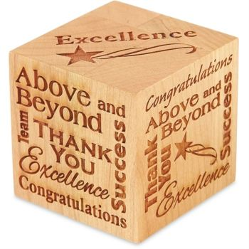 Excellence Wood Paperweight - to show employee appreciation or thank ...