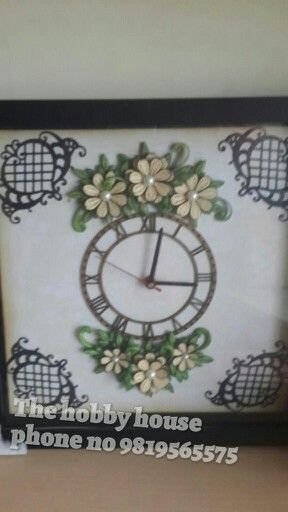 Quilling wall clock