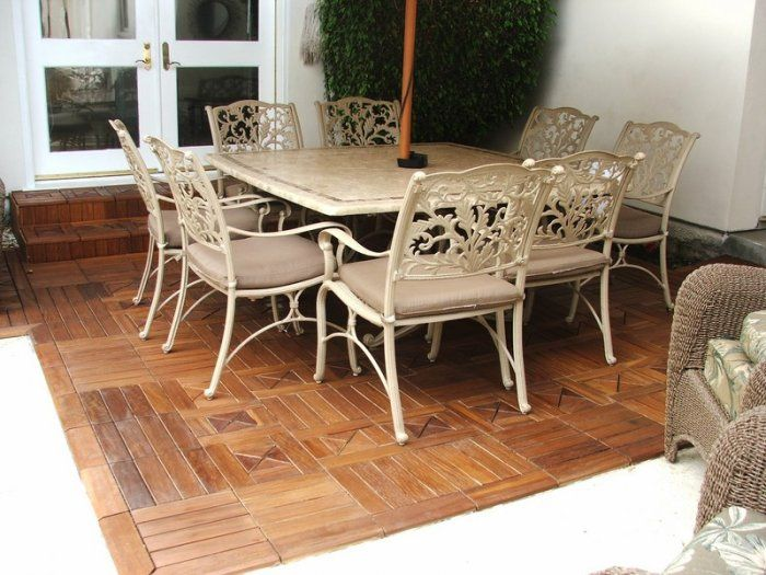 Modular Wood Flooring Solution To Cover Ugly Green Indoor Outdoor Carpet In Enclosed Patio