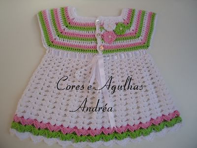 Cores e Agulhas: Vestidinho para Bebe em Crochê Princesa!