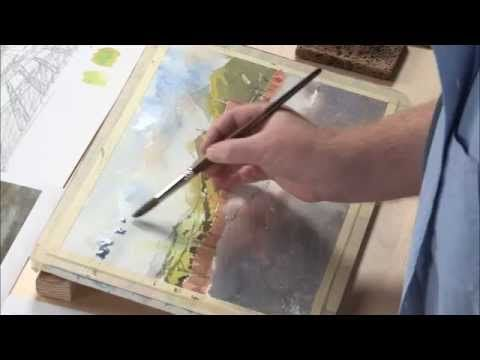 How to Paint Skies in Watercolor Landcape Art - YouTube