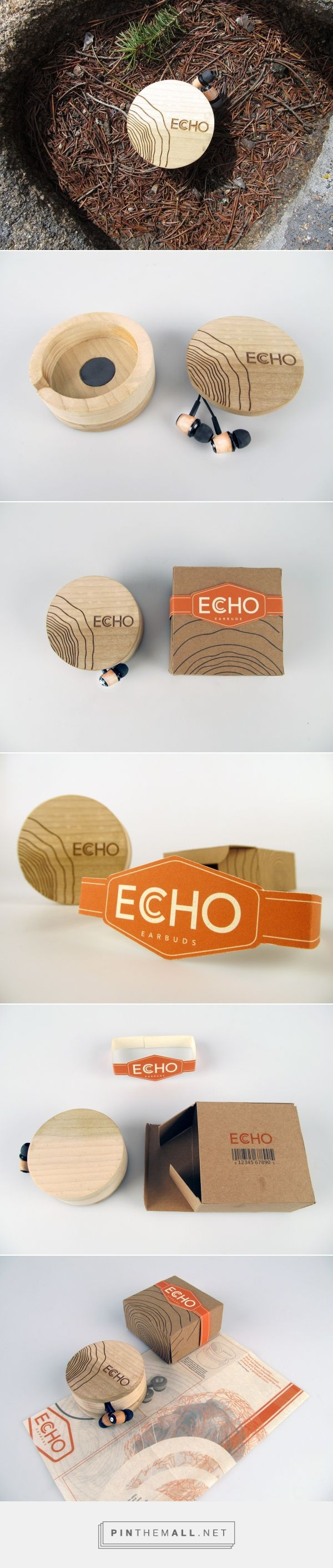 Industrial design and packaging for Echo Earbuds (Industrial/Package design) on Behance by Brandon Stacey Tulsa, OK curated by Packaging Diva PD. Product design for a practical way of storing your headphones so they stay tangle free.