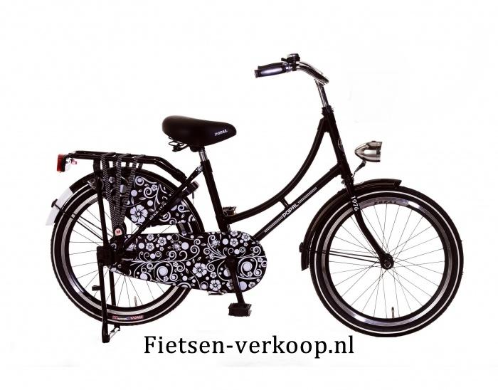 Omafiets Barok Zwart - Wit 22 Inch | bestel gemakkelijk online op Fietsen-verkoop.nl