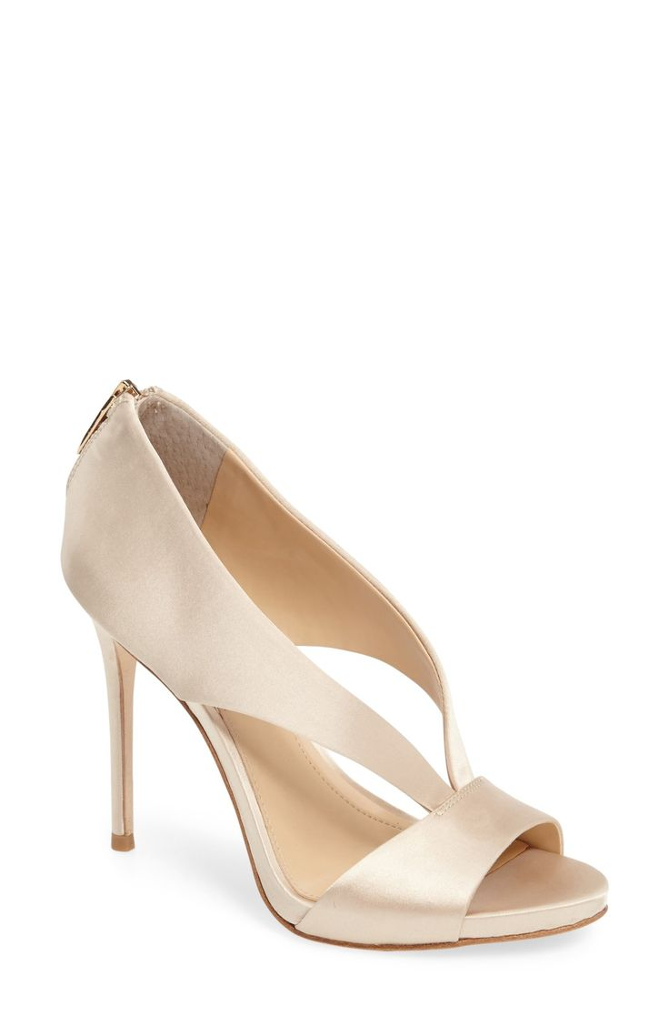 Free shipping and returns on Imagine Vince Camuto Dailey Open Toe Pump (Women) at Nordstrom.com. Lustrous satin straps arc atop an elegant sandal lofted by a leg-lengthening tapered heel.